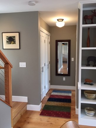 Chilmark, Chlmark Martha's Vineyard vacation rental - Hallway to Master Bedroom & stairs to loft