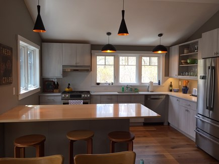 Chilmark, Chlmark Martha's Vineyard vacation rental - Kitchen for chefs. Quartz countertops