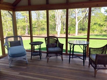 Chilmark, Chlmark Martha's Vineyard vacation rental - Screen porch open for coffee or cocktails!
