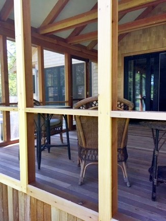 Chilmark, Chlmark Martha's Vineyard vacation rental - View of screened porch from the outside