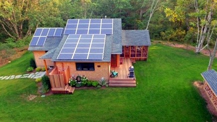 Chilmark, Chlmark Martha's Vineyard vacation rental - Solar in action + deck, screen porch & outdoor shower