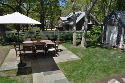 Oak Bluffs Martha's Vineyard vacation rental - Backyard seating for 8, large grill.
