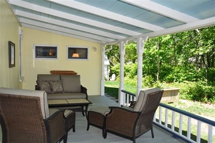 Oak Bluffs Martha's Vineyard vacation rental - Porch right side alcove