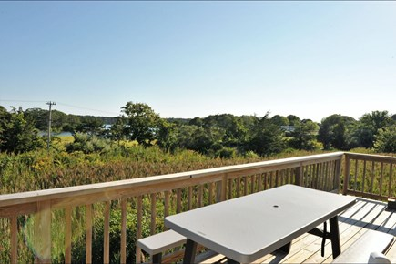 Oak Bluffs Martha's Vineyard vacation rental - Elevated Deck view to Farm Pond