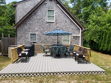 Oak Bluffs Martha's Vineyard vacation rental - Rear of home includes a dining table and grill, enclosed yard