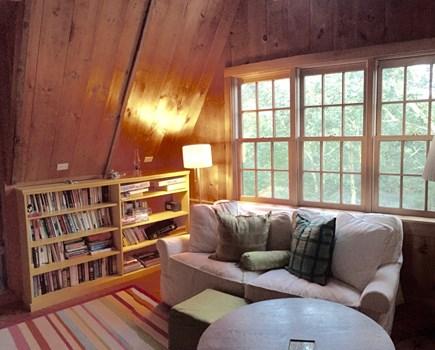 West Tisbury Martha's Vineyard vacation rental - 2nd floor sitting area with a queen sleep sofa