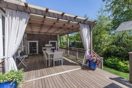 Vineyard Haven Martha's Vineyard vacation rental - Deck overlooking Landscaped Yard