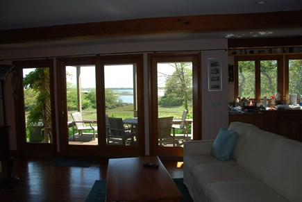 Chilmark Martha's Vineyard vacation rental - Living Room Water View