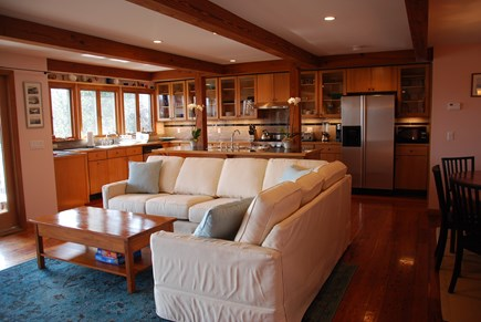 Chilmark Martha's Vineyard vacation rental - Open Kitchen- Living - Dining Room Area