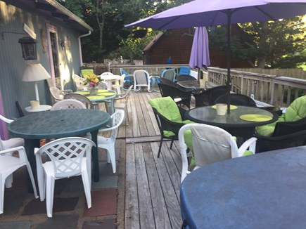 Oak Bluffs Martha's Vineyard vacation rental - Large deck for your enjoyment.