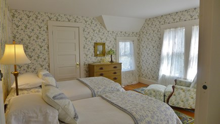 Vineyard Haven Martha's Vineyard vacation rental - 2nd fl Twin bedroom with a small waterview