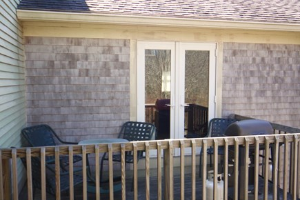 Oak Bluffs Martha's Vineyard vacation rental - French doors from kitchen to dining, BBQ deck