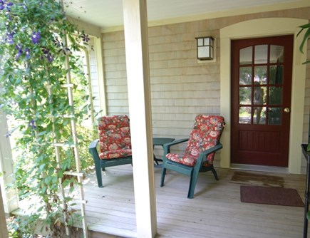 Oak Bluffs Martha's Vineyard vacation rental - Secluded front deck