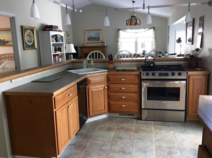Oak Bluffs Martha's Vineyard vacation rental - View from kitchen to cathedral ceiling great room