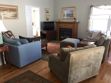 Oak Bluffs Martha's Vineyard vacation rental - Comfortable couches with TV and fireplace for your enjoyment