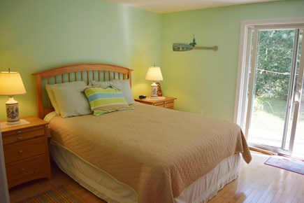 Katama - Edgartown, Katama Martha's Vineyard vacation rental - Bedroom # 2 First Floor, Queen, Sliders Open To Deck