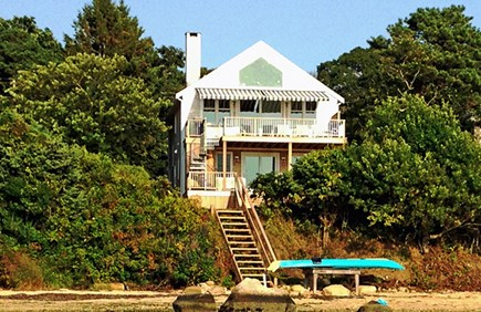 Oak Bluffs, Lagoon Pond Waterfront Martha's Vineyard vacation rental - Waterfront! West- facing sunsets 2-story upside down living