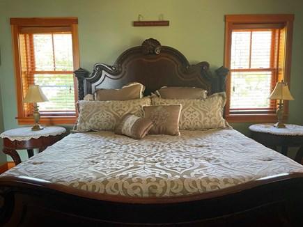 Oak Bluffs, Lagoon Pond Waterfront - salt Martha's Vineyard vacation rental - Master Bedroom on upper level with king bed