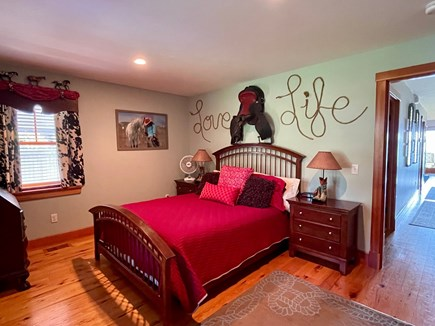 Oak Bluffs, Lagoon Pond Waterfront - salt Martha's Vineyard vacation rental - Cowgirl Bedroom (#2 on entry level) with queen bed
