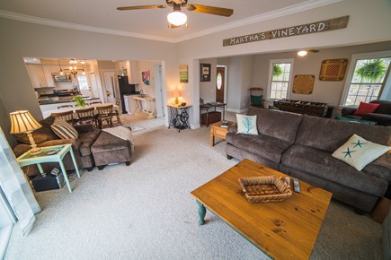 West Tisbury Martha's Vineyard vacation rental - Spacious family room open to adjoining game room and kitchen