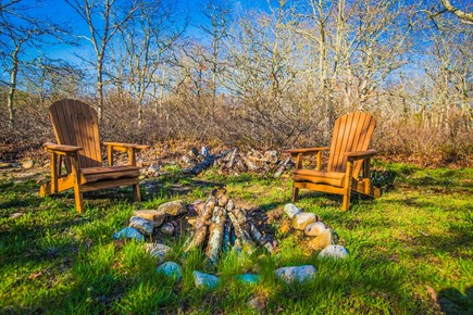 West Tisbury Martha's Vineyard vacation rental - Enjoy a fire in the back yard around the fire pit