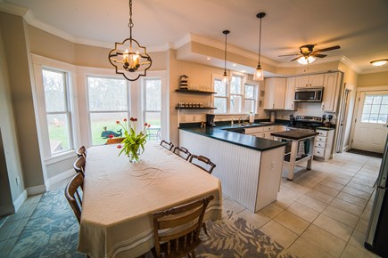 West Tisbury Martha's Vineyard vacation rental - Large open concept. View of kitchen/dining area