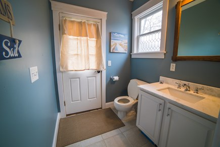 West Tisbury Martha's Vineyard vacation rental - Half bath off kitchen with convenient access to outdoor shower