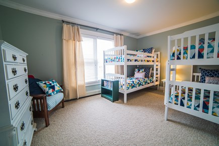 West Tisbury Martha's Vineyard vacation rental - Bunk room w/4 twin beds, closet and dresser. Great for kids!
