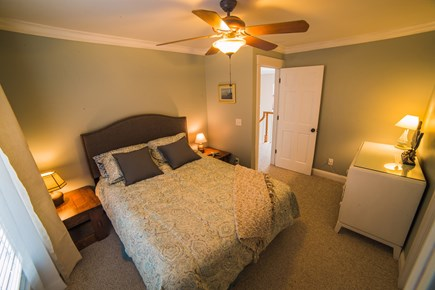 West Tisbury Martha's Vineyard vacation rental - Cozy room w/queen bed. View of back yard, deck & basketball court