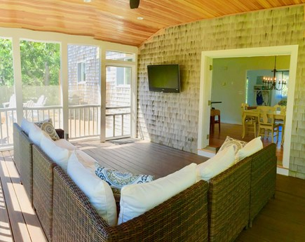 Katama - Edgartown, Edgartown Martha's Vineyard vacation rental - Screened porch opens to the deck, french door lead to the kitchen