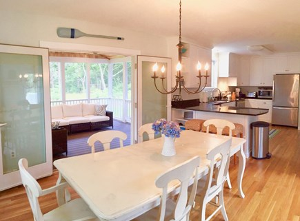 Katama - Edgartown, Edgartown Martha's Vineyard vacation rental - View from the dining and kitchen to the screened porch