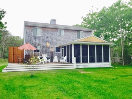 Katama - Edgartown, Edgartown Martha's Vineyard vacation rental - Katama  private large grassy back yard at 5 Vickers Way