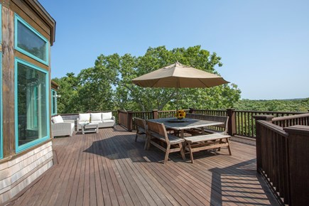 Chappaquiddick, Edgartown Martha's Vineyard vacation rental - Large deck with Weber grill and plenty of seating