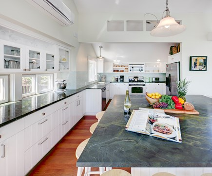 Chappaquiddick, Edgartown Martha's Vineyard vacation rental - Gourmet kitchen with granite counter tops and large center island