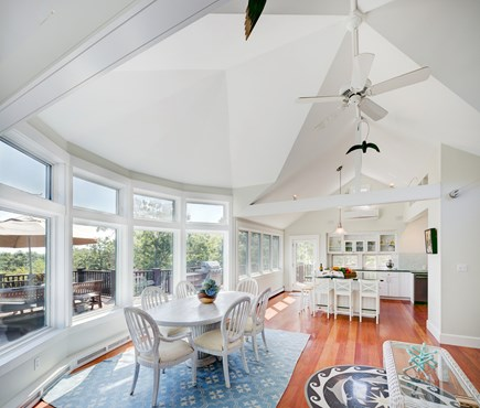 Chappaquiddick, Edgartown Martha's Vineyard vacation rental - Beautiful dining area with a view of Nantucket!