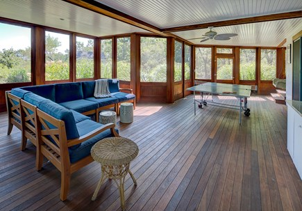 Chappaquiddick, Edgartown Martha's Vineyard vacation rental - Large screened in porch with ping pong, air hockey TV and wet bar