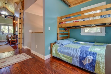 Edgartown Martha's Vineyard vacation rental - The 4th bedroom features a twin-over-full bunkbed