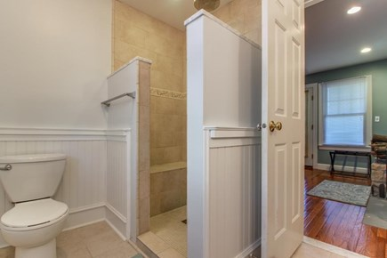 Edgartown Martha's Vineyard vacation rental - Master en-suite has beautiful walk in shower & dual vanity