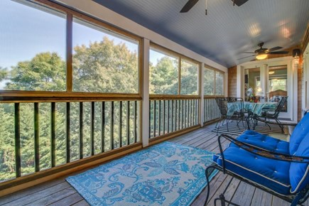 Edgartown Martha's Vineyard vacation rental - Enclosed deck with seating and dining space