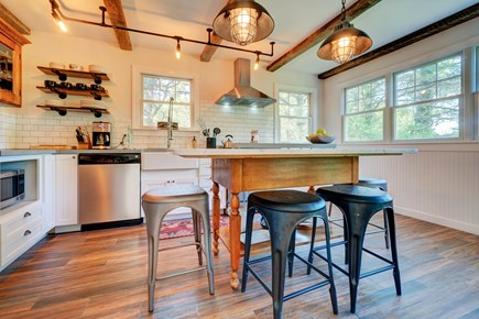 Edgartown Martha's Vineyard vacation rental - The marble island is a perfect spot to sip coffee or prep meals