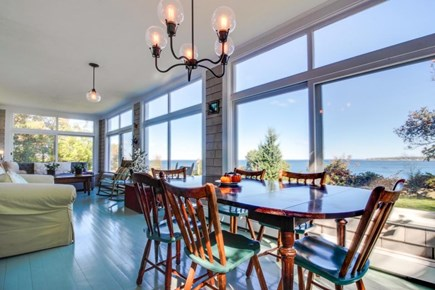 Vineyard Haven Martha's Vineyard vacation rental - Sit at the 6 seat dining table & enjoy meals in the sunroom
