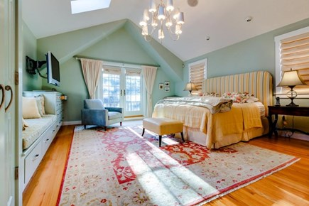 Oak Bluffs Martha's Vineyard vacation rental - Master bedroom offers a king bed, private balcony, flatscreen TV