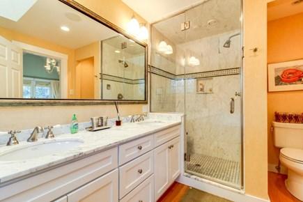 Oak Bluffs Martha's Vineyard vacation rental - Gorgeous master en-suite w/ large walk-in shower & double vanity