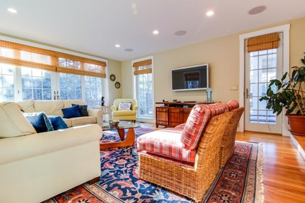 Oak Bluffs Martha's Vineyard vacation rental - Watch cable TV on the flatscreen w/ surround sound speakers