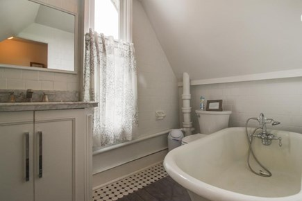 Oak Bluffs Martha's Vineyard vacation rental - 2nd floor bath has a claw foot tub & a European-style shower head