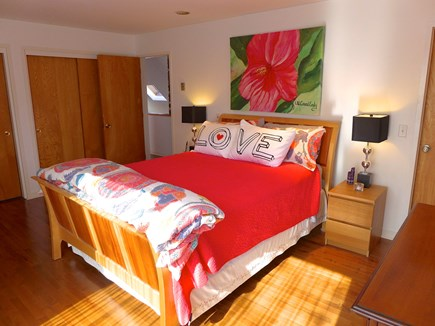 Edgartown Martha's Vineyard vacation rental - Master bedroom with queen bed and double closets