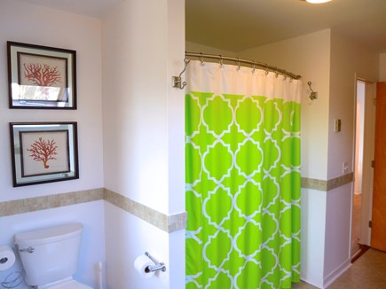 Edgartown Martha's Vineyard vacation rental - Hotel shower rod, and closet washer and dryer