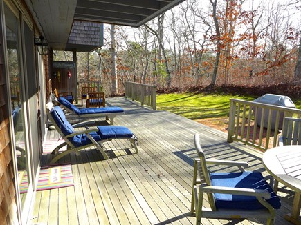 Edgartown Martha's Vineyard vacation rental - Back deck with ample seating, patio and gas grill
