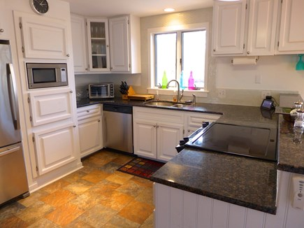 Edgartown Martha's Vineyard vacation rental - Large bright kitchen open to dining and living space.
