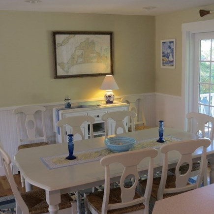 Vineyard Haven Martha's Vineyard vacation rental - Dining room with sliders to the deck